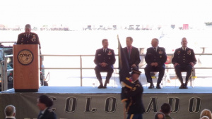 Colorado Governor Officiates Change of Command Ceremony