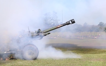 M119 Howitzer Shooting Change of Command