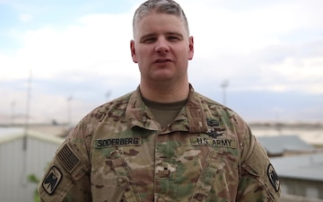 Warrant Officer 1 Alan Soderberg Mother's Day Greeting from Afghanistan