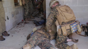 MOUT Town Mayhem: Marines Practice Life-Saving Skills During Squad Overmatch