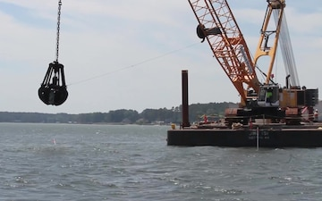 Reef building commences on Piankatank River