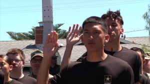 2017 Torrance Armed Forces Parade Mass Oath of Enlistment