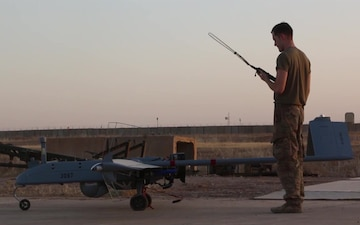 U.S. Army Soldiers launch remotely piloted aircraft