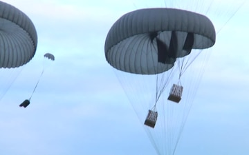Minnesota National Guard Receives Supply Drop During Exercise Saber Strike 17