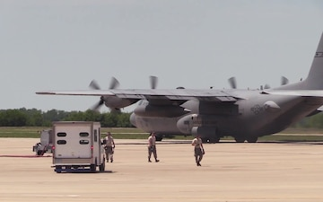 Wing Airlifts Mobile Rocket System to Fort Riley