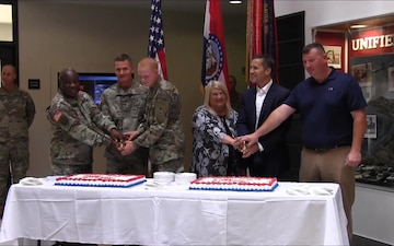 242nd Army Birthday Cake Cutting at Fort Leonard Wood