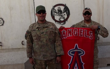 Independence Day Greeting from Afghanistan for the Los Angeles Angels of Anaheim