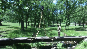 South Dakota National Guard and Danish Army Engineers Build Together