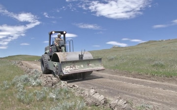 842nd Engineers Build a Road for the National Forest Service - B-Roll