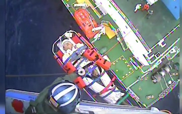 Coast Guard Medevacs Man Off Tanker