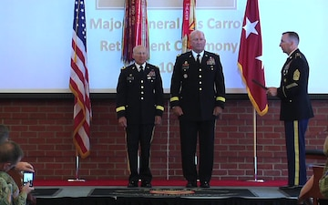 MG Les Carroll Retirement Ceremony