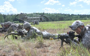 2-136 Infantry at Saber Strike 17