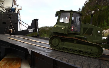 Optimizing Readiness in Norway: MRF-E Marines rotate cave equipment on USNS Lopez