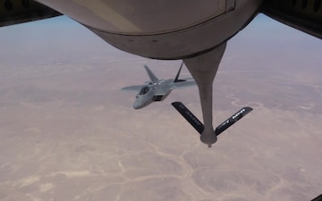 KC-135 Refuels F-22s for OIR Support
