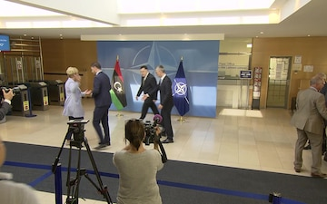 Secretary General Welcomes Libyan Prime Minister to NATO Headquarters (B-roll)