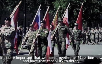 NATO Battlegroups Train Together at Exercise Iron Wolf, Master Version (with Subtitles)