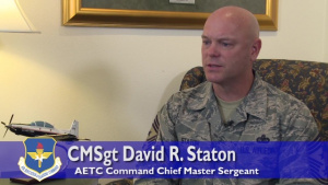 AETC Command Chief discusses first enlisted RPA pilots