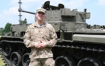 Spc. Hickey sends his Fouth of July greetings to his wife and the Oakland A's from Germany