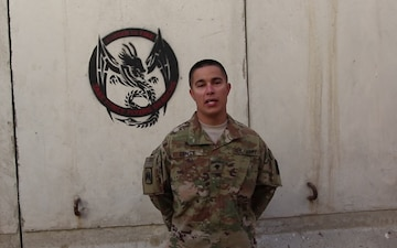 Spc. Christopher Ernst Independence Day Greeting from Afghanistan
