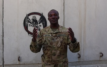 Chief Warrant Officer 2 Jonas Simplice Independence Day Greeting from Afghanistan