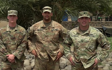 U.S. Army Sergeant Christopher Ball, U.S. Army Specialist Tracy Stremming, and U.S. Army Private Hunter Holman