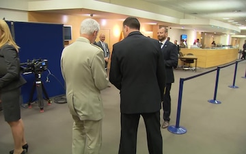 NATO Ministers of Defense Meetings: Working Lunch Arrivals