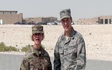 U.S. Air Force 1st Lt. Alan Erickson and U.S. Army Col. Ronda Sutton