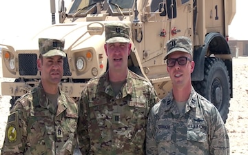 U.S. Air Force Capts. Frank Terranova, Clinton Hensley and Jason Citron