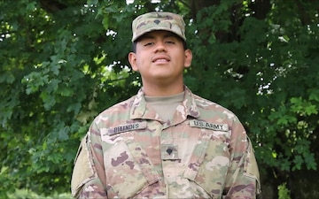 SPC Michael Belendes sends Fourth of July shout out