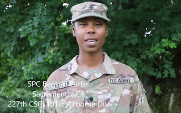 SPC Bankari Carter send Fourth of July shout out