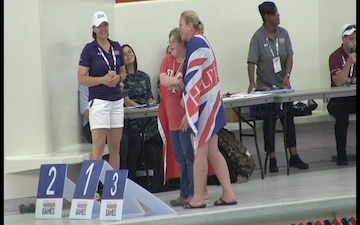 DoD Warrior Games Swim Competition