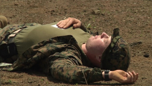 Marine Wing Support Squadron 171 conducts a mass casualty drill (Package/Pkg)
