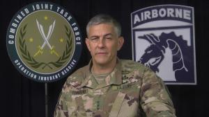 LTG Stephen Townsend congratulates Iraq on Mosul Liberation
