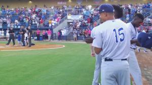 Biloxi Shuckers Minor League Baseball team's military appreciation night