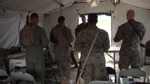 PACUP:Chaplain Counsels Marines, Sailors During Field Operations