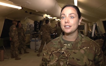 British Army Medical Professionals augment 212th CSH at Saber Guardian 2017 MASCAL Exercise