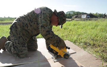 B-Roll: SPMAGTF-SC Marines and sailors construct foundation of MOUT facility