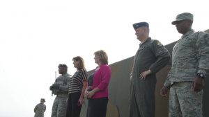Christina Olds visits Kunsan for Robin Olds Day