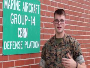 VMGR-252 Conducts CBRN training