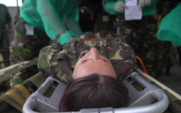 Troops practice mass casualty training during Exercise Saber Guardian 2017