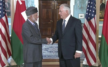 Secretary Tillerson Meets Oman Foreign Affairs Minister (Camera Spray)