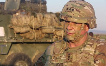 U.S. Army Europe Commanding General Lt. Gen. Ben Hodges visits 173rd Airborne Brigade and allies during Saber Guardian 2017
