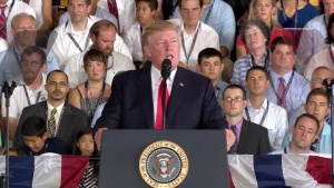 President Speaks at USS Gerald R. Ford Commissioning