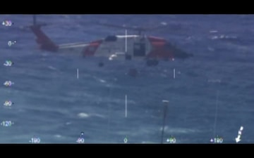 Coast Guard Medevacs Man from Navy Ship 160 Miles off Cape Hatteras, NC