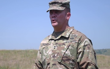 Maj. Gen. Lee Henry Explains the Importance of Training in Romania