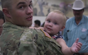 More than 130 Oklahoma Guardsmen return home from Europe - B-Roll