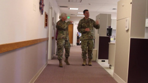 Maj. Gen. Mary Link visits an Innovative Readiness Training site in Covelo, CA