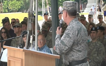 The 36th Infantry Division Change of Command Ceremony B-Roll