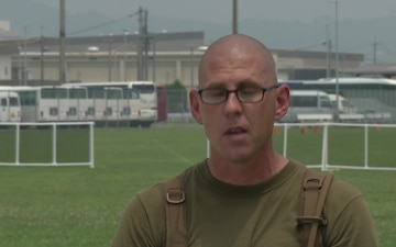 Iwakuni's Headquarters and Headquarters Squadron throw down at field meet (Interview - Cain)