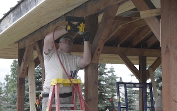 134th Civil Engineer Squadron build pavilion during DFT